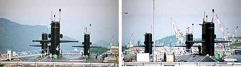 現在、潜水艦教育訓練隊があるのは旧呉海軍工廠本部のあった場所で、目の前... 海上自衛隊潜水艦教