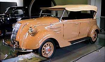 ▲トヨタABR型フェートン 昭和11年に発表、発売された。 同時期に登... トヨタ博物館